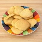 Homemade sugar cookies on dish