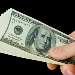 money with hand