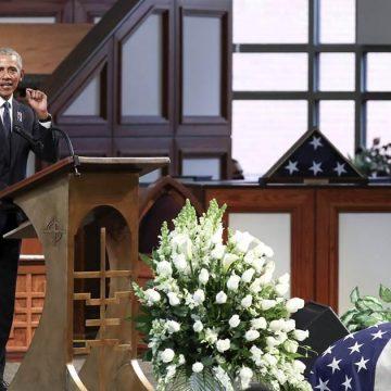 Obama Eulogizes John Lewis In Stirring Tribute [WATCH]
