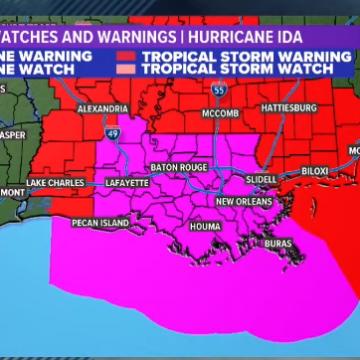 Hurricane Ida To Make Landfall In New Orleans [LIVE STREAM]