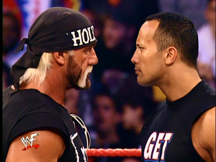 Post image of WrestleMania Countdown #10: Рок vs Халк Хоган
