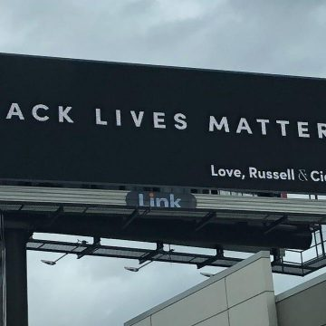 Russell & Ciara Put Up Black Lives Matter Billboards in Several Cities