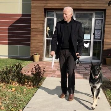 Joe Biden and dog