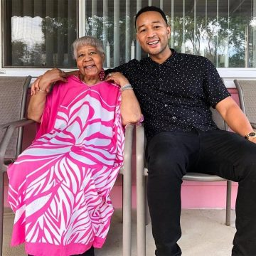 John Legend and grandmother