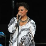 Marsha Ambrosius performing as part of The All of Me Tour at Chastain Park Amphitheatre on Tuesday, July 29, 2014, in Atlanta. (Photo by Robb D. Cohen/Invision/AP)
