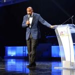 Steve Harvey performs during the 2015 Neighborhood Awards at Philips Arena on Saturday, August 8, 2015, in Atlanta. (Photo by Robb D. Cohen/Invision/AP)