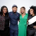"Octavia Spencer, Producer Pharrell Williams, Taraji P. Henson and Janelle Monae seen at ""Hidden Figures"" Live at the 2016 TIFF on Saturday, Sept. 10, 2016, in Toronto. (Photo by Eric Charbonneau/Invision for Twentieth Century Fox/AP Images)"