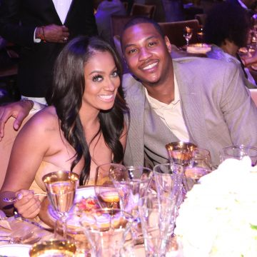 Carmelo Anthony is hotter than fish grease at Chris Rock