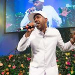 Rapper Kurtis Blow performs on stage at the Rush Philanthropic Arts Foundation's 15th Annual Art for Life Benefit at Fairview Farms in Water Mill on Saturday, July 26, 2014, in New York. (Photo by Scott Roth/Invision/AP)