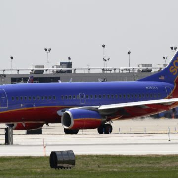 A Southwest Airlines flight to Newark made an emergency landing in Cleveland