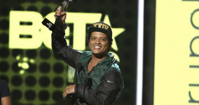 Bruno Mars was forced to temporarily leave the stage after a fire broke out
