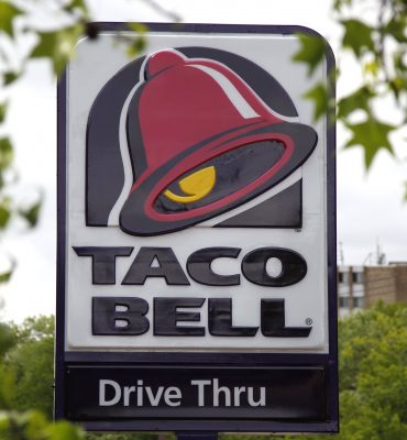 This is the sign at a Taco Bell in Mount Lebanon, Pa., Friday, May 23, 2014.  (AP Photo/Gene J. Puskar)