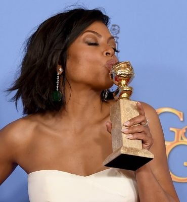 """Taraji P. Henson poses in the press room with the award for best performance by an actress in a television series  - drama for """"Empire"""" at the 73rd annual Golden Globe Awards on Sunday, Jan. 10, 2016, at the Beverly Hilton Hotel in Beverly Hills, Calif. (Photo by Jordan Strauss/Invision/AP)"""