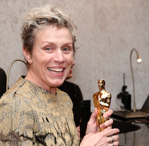 A man was charged for stealing Frances McDormand's Oscar