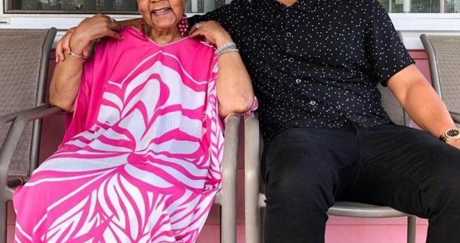 John Legend and grandmother